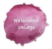 Purpurroter Aquarell-Fleck auf weißem Hintergrund Lizenzfreies Stockfoto