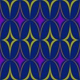 Purpurroter blauer ovaler gelber Abstraktionsvektor des Rautenmusters vektor abbildung