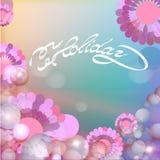 Purpurroter Blumen-Hintergrund Lizenzfreies Stockbild
