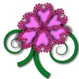 Purpurroter Blumenvektor Lizenzfreies Stockbild