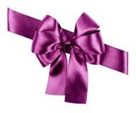 Purpurroter Bogen von der Seide Stockfoto