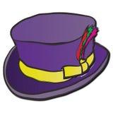 Purpurroter Dandy Hat Lizenzfreies Stockfoto