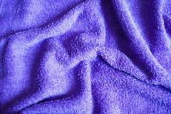 Purpurroter Farbgewebe-Tuchhintergrund Stockfotografie