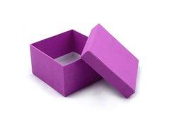 Purpurroter Geschenk-Kasten Lizenzfreies Stockfoto