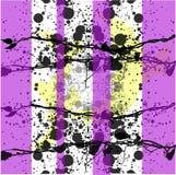 Purpurroter gestreifter gespritzter grunge Hintergrund Stockbilder