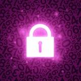 Purpurroter glühender Verschluss Lizenzfreie Stockbilder