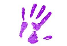 Purpurroter Handdruck stockbilder