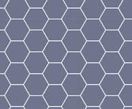 purpurroter Hexagonbienenwaben-Musterhintergrund Stockfotografie