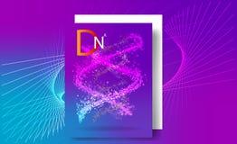 Purpurroter Hintergrund mit DNA Wissenschaftsillustration von DNA-Molekül stock abbildung
