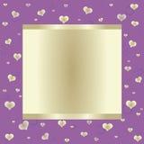 Purpurroter Hintergrund mit großer Fahne Lizenzfreie Stockbilder
