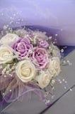 Purpurroter Hochzeitsblumenstrauß Lizenzfreie Stockbilder