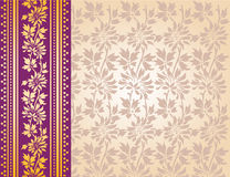 Purpurroter indischer Sareehintergrund Stockfotografie