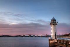 Purpurroter Leuchtturm Lizenzfreie Stockfotografie