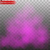Purpurroter lokalisierter transparenter Spezialeffekt des Nebels oder des Rauches Farbe lizenzfreie abbildung
