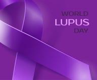 Purpurroter Lupusbewusstseins-Bandhintergrund Lizenzfreie Stockfotos