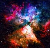 Purpurroter Nebelfleck im Weltraum Elemente dieses Bildes geliefert von der NASA Lizenzfreies Stockbild
