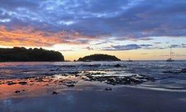 Purpurroter Ocotal Sonnenuntergang Lizenzfreies Stockbild