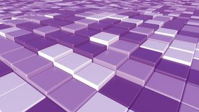 Purpurroter quadratischer Ziegelsteinhintergrund, Wiedergabe 3D Stockfotografie