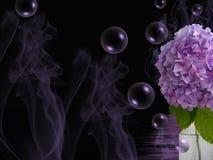 Purpurroter Rauch Stockfotografie