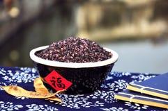 Purpurroter Reis Stockfotos