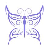 Purpurroter Schmetterling Lizenzfreie Stockfotografie