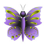 Purpurroter Schmetterling mit Muster lizenzfreie stockfotos