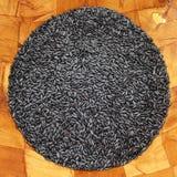 Purpurroter schwarzer Reis-rundes Quadrat Lizenzfreie Stockfotos