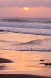 Purpurroter Sonnenuntergang Lizenzfreie Stockbilder