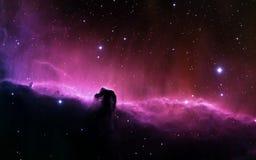 Purpurroter sternenklarer Himmel so schön lizenzfreies stockbild