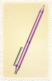 Purpurroter Stift Stockfoto