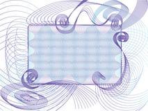 Purpurroter Textkasten Stockfoto