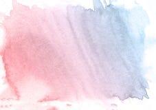 Purpurroter und blauer Aquarellhintergrund Schöne Beschaffenheit Vektor Abbildung