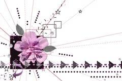Purpurroter und schwarzer abstrakter Hintergrund Stockbilder