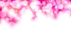 Purpurroter und weißer bokeh Hintergrund Lizenzfreies Stockbild