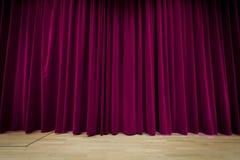 Purpurroter Vorhang-Hintergrund Stockbild
