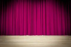 Purpurroter Vorhang-Hintergrund Lizenzfreie Stockbilder