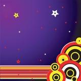 Purpurroter Zirkus Stockbild
