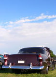 Purpurrotes amerikanisches Muskel-Auto Stockfotos