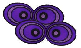 Purpurrotes Auge der Gruppe vom Papier für Halloween Lizenzfreies Stockbild