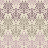 Purpurrotes, braunes und rosa barockes Muster Stockfotografie