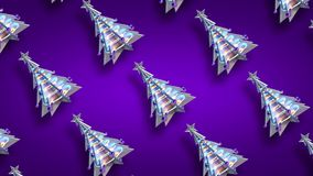 Purpurrotes Funkeln v3 der Weihnachtsdekorationsweihnachtsbaum-Schleife stock footage