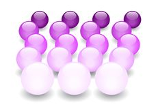 Purpurrotes Glas marmort Perspektive Lizenzfreies Stockfoto