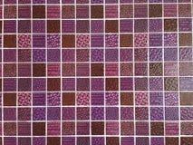 Purpurrotes Glasmosaik Stockbild