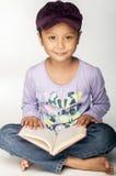 Purpurrotes Mädchen Stockbild