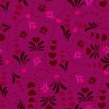 Purpurrotes nahtloses Blumenmuster Stockbilder