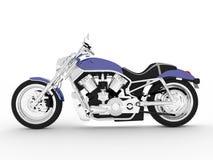 Purpurrotes schwarzes Motorrad auf einem weißen Hintergrund Lizenzfreie Stockbilder