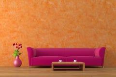 Purpurrotes Sofa stockfoto