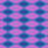 Purpurrotes und blaues abstraktes Muster mit Raute Stockfotografie