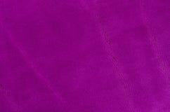 Purpurrotes Veloursleder Stockfotografie