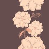 Purpurrotes vertikales Blumenmuster Stockfotografie
